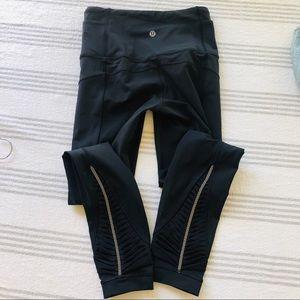 Lululemon Leggings Front Zips Mesh Back Legs
